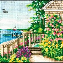 Gallery.ru / Все альбомы пользователя denise10 Cross Stitch Landscape, Garden Bridge, Cross Stitch Patterns, Outdoor Structures, Cross Stitch, Xmas, Projects, Cross Stitch Designs, Counted Cross Stitch Patterns
