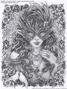 SciFi and Fantasy Art Masquerade: Wild Rose by Adele Lorienne
