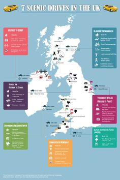 If you are planning to hire a car to do a road trip in UK and you are not sure where to go then our infographic, 7 Scenic Drives in the UK will help y