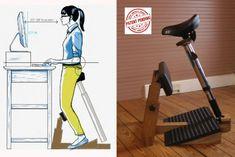 ヨガがヒントに!人間工学に基づきデザインされた「立っているのに座っている」立ったまんまイスが登場