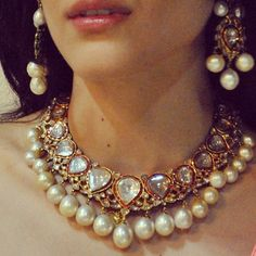 Check the latest designer pearl wedding jewelry models in India here. This video you can find the top 14 designs of Pearl bridal necklace set designs showed . Bridal Necklace, Necklace Set, Bridal Jewelry, Gold Jewelry, Jewelry Sets, Modern Bridal Jewellery, Antique Jewellery, Pearl Jewelry, Pearl Necklace