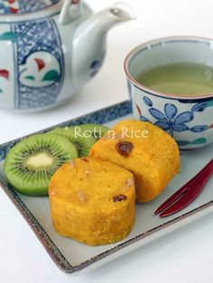 This tender Steamed Kabocha Cake is made with light and fluffy kabocha squash, raisins, and walnuts. It is delicious served with fresh fruits and green tea.