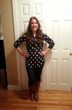 Sooo cute!  Colibri Heart Print Tab-Sleeve Blouse!  This girl is adorable, by the way... Leopard Lace and Cheesecake: Stitch Fix Review: Fix #4