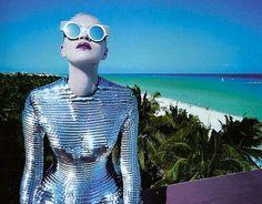 Miami, Gareth Pugh, futuristic shoot.