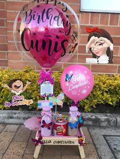 Air Balloon, Balloons, Balloon Arrangements, Diy Crafts For Gifts, Alaia, It's Your Birthday, Ideas Para, Sweets, Happy