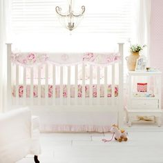 Crib Rail Covers are a great option for bumperless design bedding and keeps your baby from chewing on the crib. The crib rail covers are padded. Fits most standard cribs. Peach Bedding, Baby Girl Crib Bedding, Girl Cribs, Baby Bedding Sets, Nursery Bedding, Baby Cribs, Girl Nursery, Nursery Ideas, Ballerina Nursery