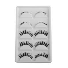 JEYL Hot 5 pairs Black Handmade Upper Bottom False Eyelashes Extension #Affiliate