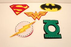 Justice League Set of 5 Felt Christmas Ornaments