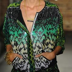 Kenneth Cole sequined snakeskin-inspired print jacket