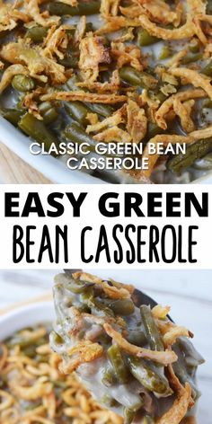 This Campbell s Green Bean Casserole is made with just five ingredients green beans mushroom soup fried onions milk and soy sauce It is the perfect side dish for holidays or any occasion Greenbean Casserole Recipe, Easy Casserole Recipes, Greenbean Casserole Campbells, Recipe For Green Bean Casserole, Green Beam Casserole, Green Bean Casserole Easy Thanksgiving, Green Bean Casserole Ingredients, Classic Green Bean Casserole, Vegetable Dishes