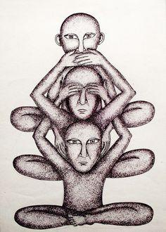 Gandhi's Three Monkeys on Behance