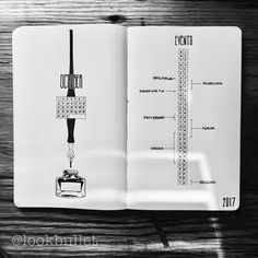 Bullet journal monthly layout, October layout, minimalist bullet journal. @lookbullet
