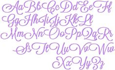 Embroidery lowercase letters | Girly Fonts Alphabet Letters