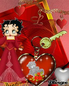 betty boop Bookshelf Headboard, Betty Boop Pictures, Animated Gif, Christmas Bulbs, Pin Up, Bb, Gifs, Valentines, Holiday Decor