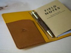 Field Notes Cover Leather Cover Field Notes Wallet Handmade