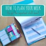 Get Organized! Manage your time, simplify your life and live your true priorities with a weekly plan. Take a look at my plan and create your own with my FREE customizable planner!   Life is busy and if I am not very intentional with my time the important items in my life are pushed to the […]