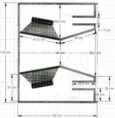 Resultado de imagem para subwoofer box design for 12 inch Diy Subwoofer, Subwoofer Box Design, Speaker Box Design, Diy Speakers, Built In Speakers, Woofer Speaker, Speaker Plans, Hifi Audio, Car Audio