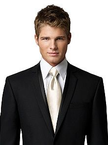 Matte Satin Neck Tie in Ivory:I can see this :)