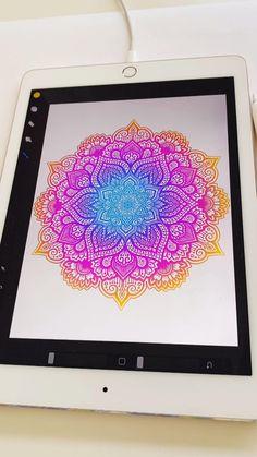 Mandala Art Lesson, Mandala Artwork, Doodle Art Drawing, Mandala Drawing, Mandala Sketch, Watercolor Mandala, Dibujos Zentangle Art, Art Drawings Sketches Simple, Ipad Art