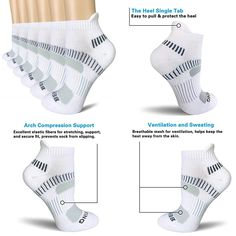Hanes set of 6 paris Women/'s cushion LOW CUT socks fit shoe size 5-9 Made in USA