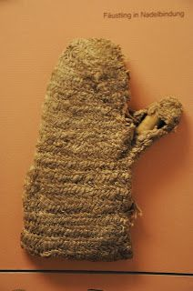 And a medieval glove made in naalbinding technique