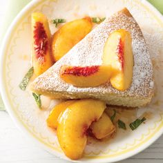 This skillet pound cake recipe is one of Southern Plate author Christy Jordan's favorites–the fresh peach sauce oozes down, making every bite explode with peach sweetness.