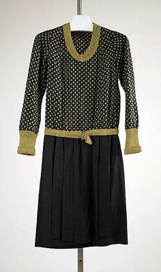 Ensemble Design House: House of Worth Date: ca. 1927 Culture: French Medium: silk, metallic thread, fur, silver Accession Number: 1978.288.5a–c