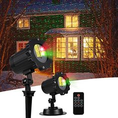 Patio DIKLA Motion Laser Lights for Party Indoor Outdoor Laser Light with Remote Control House Holiday Wedding Party Decoration