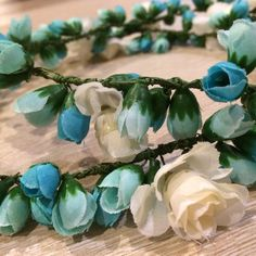 Turquoise handmade floral crown. Visit www.fb.com/jedajinxjewelries for more accessories #floralcrown #wedding #blueseries #jedajinx