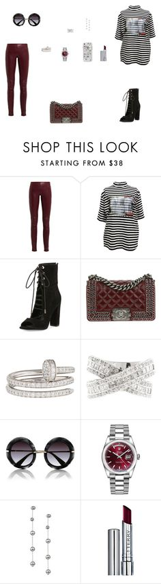 """Look do Dia"" by julianaf121 ❤ liked on Polyvore featuring Balenciaga, M.Y.O.B., Kendall + Kylie, Chanel, Cartier, Dolce&Gabbana, Rolex, Oscar de la Renta, Case-Mate and By Terry"