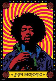 Psychedelic Posters | Jimi Hendrix - Psychedelic Poster bij AllPosters.nl