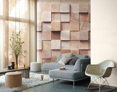 Les tendances dans la décoration murale s'inspire des nouvelles technologies pour nous donner un papier peint 3D qui joue avec les perspectives.