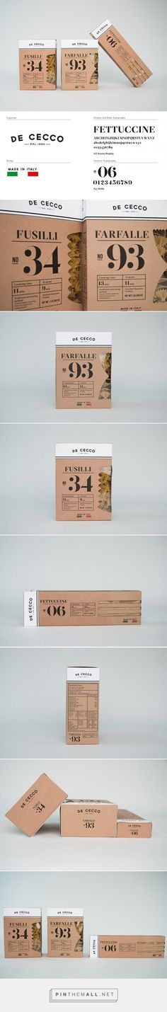 De Cecco pasta by Anna Ahnborg (student project). Pin curated by #SFields99 #packaging #design