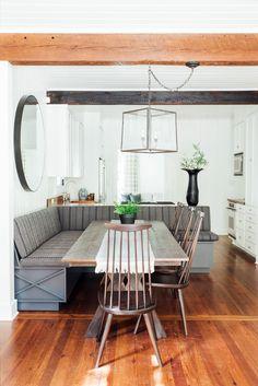 Large built in dining room bench | Cortney Bishop
