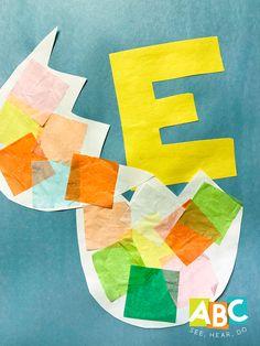 Letter E Art, Letter G Crafts, Preschool Letter Crafts, Abc Crafts, Alphabet Crafts, Daycare Crafts, Classroom Crafts, Alphabet Book, Letter E Activities