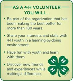 4H is creating an impact on youth around the country and the world ...