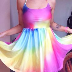 Don't miss out on our rainbow halterneck dress this summer!  #jenniferhope #fashion #streetwear #rainbow #tiedye #festival #summer #love #hope #girl #cute #shop #babe #pink #blue #floral #print #design #multicoloured #lookbook #ootd #london #bristol #sun #sea #beach