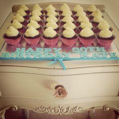 30th Birthday Mini Cupcakes.
