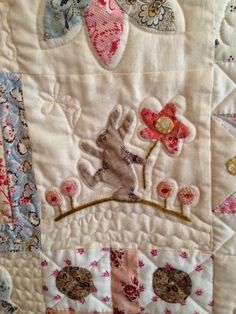 I want grandchildren! Wool Applique, Applique Quilts, Embroidery Applique, Small Quilts, Mini Quilts, Applique Designs, Quilting Designs, Applique Ideas, Susan Smith
