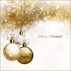 Imagen vectorial de bolas de cristal navideñas doradas y perla, de buenísima calidad. Descarga gratis.