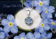 Customizable Real Forget-Me-Not Miscarriage Jewelry - Memorial Flower Preservation