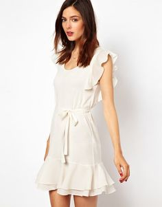 French Connection Frill Sleeve Mini Dress French Connection