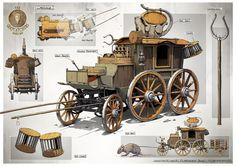 The Carriage, Gian Andri Bezzola on ArtStation at https://www.artstation.com/artwork/0ZOQV
