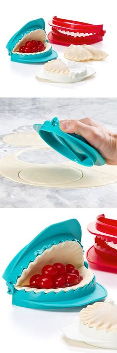 Teal and red dough press set - make perfect pastries and empanadas
