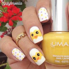 Simple and Easy Easter Chick Nails nail designs easy for kids 61 Easy and Simple Easter Nail Art Designs Nail Art Designs, Easter Nail Designs, Elegant Nail Designs, Easter Nail Art, Holiday Nail Designs, Holiday Nails, Nail Designs For Kids, Simple Designs, Nails For Kids