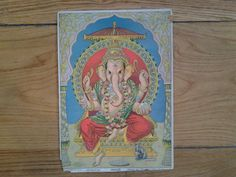 Raja Ravi Varma Malavli Press. 1900. Lord Ganesh. by Lallibhai, £45.00