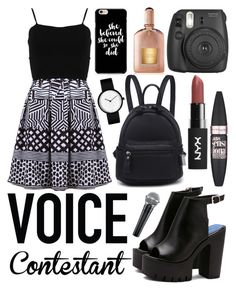 """""""Voice Contestant"""" by xoxo-camellia on Polyvore featuring FRACOMINA, Fujifilm, Maybelline, Tom Ford, thevoice and YahooView"""