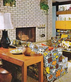 1970s Living Room Mcm Structure With 70s Decor Home