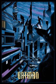Batman Beyond, by Killian Eng (via Mondo's Batman 75th Anniversary Gallery Show)
