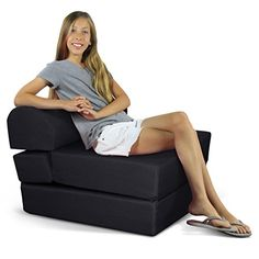 """Children's Studio Chair Sleeper  Jr. Twin 24"""", Black >>> Be sure to check out this awesome product."""